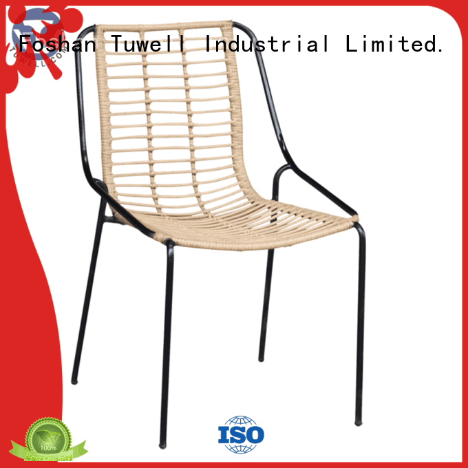 black wire chair Outdoor design OEM Rattan chair Tuwell