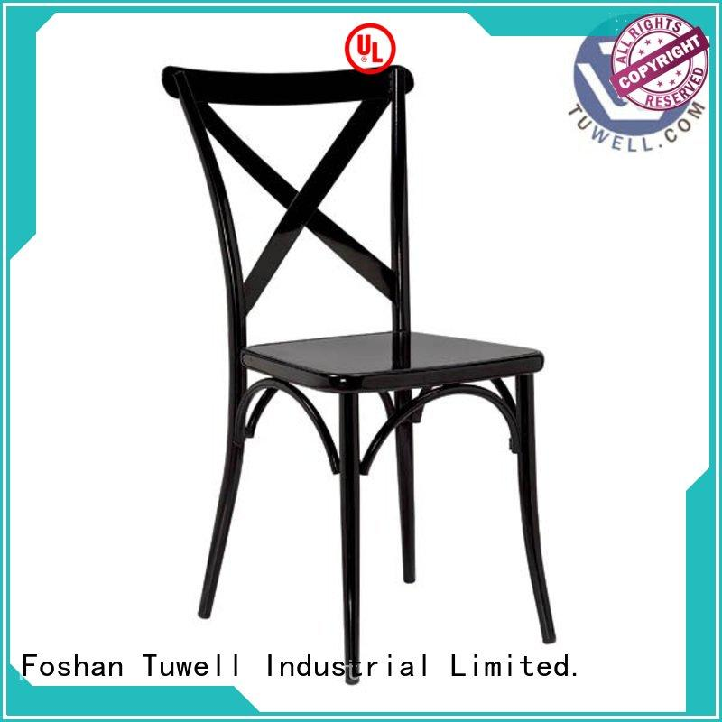 Tuwell durable wooden cross back chairs design for outdoor