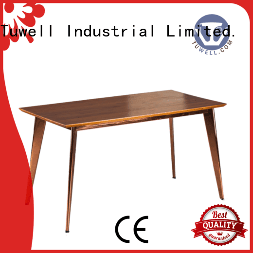 Tuwell Brand design table steel bar height dining table