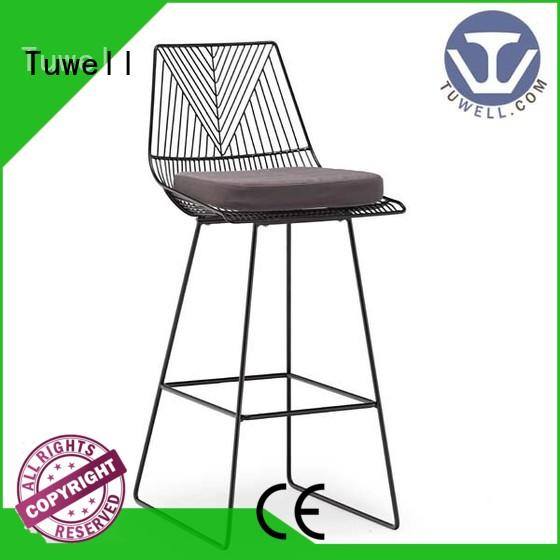 high quality wire chair supplier for restaurant Tuwell