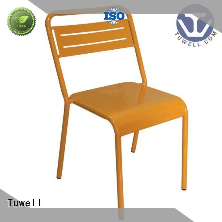 Tuwell personalized steel dining chairs series for restaurant