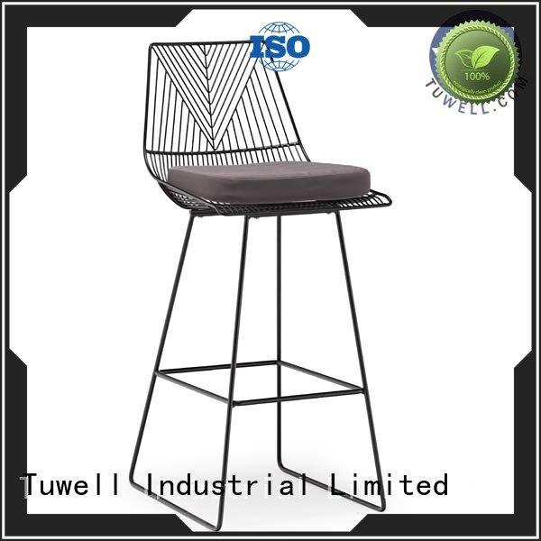 chair black wire chair lucy Tuwell Brand wire chair metal wire bar
