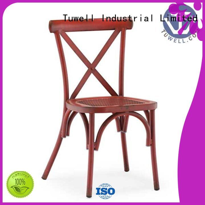 Tuwell strong vintage cross back chairs durable for hotel