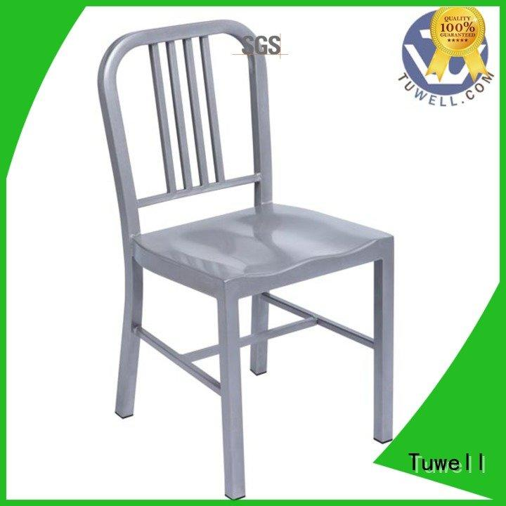 Tuwell Brand Outdoor emeco wood navy blue dining chairs