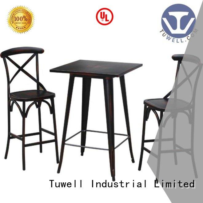 Tuwell Brand table Outdoor bar height dining table design Mounting