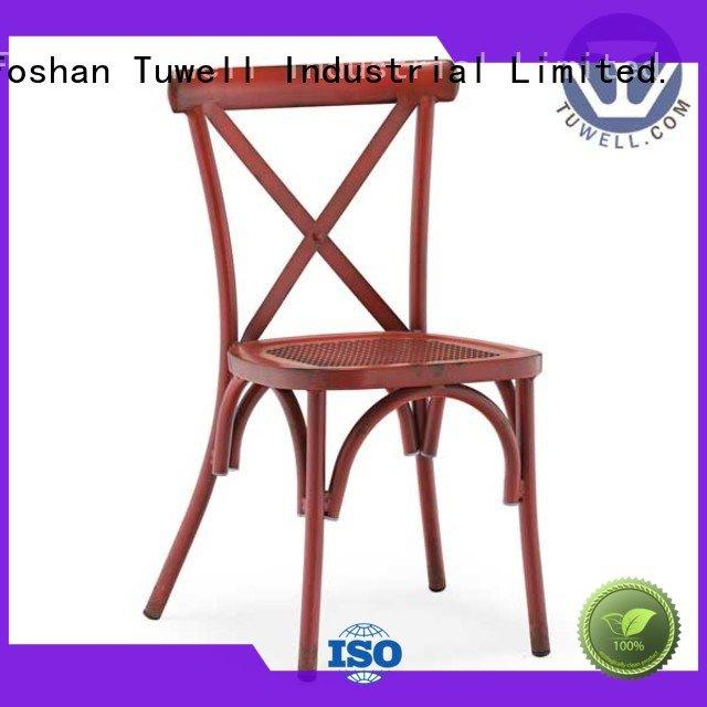 Suitable cross back chairs aluminum Outdoor Tuwell