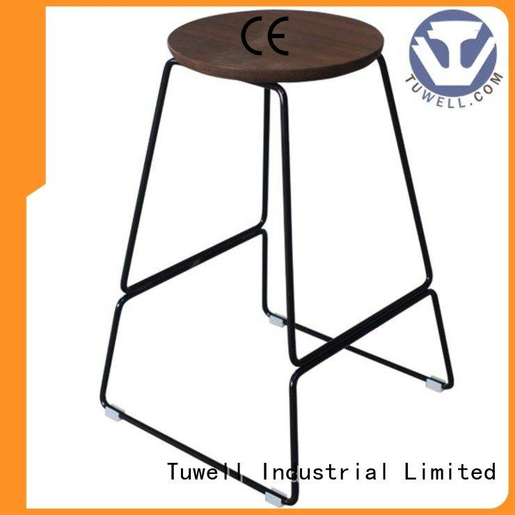 steel folding chairs barstool chair stainless steel furniture Tuwell Warranty