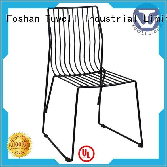 black wire chair wire metal Tuwell Brand