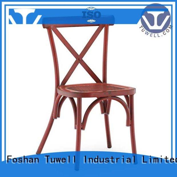 Tuwell Brand design Mounting cross back chairs wholesale back Outdoor