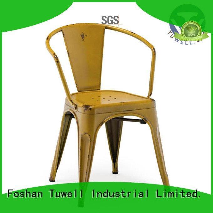 Tuwell Brand Self-Sabilizing steel tolix outdoor tolix chairs Outdoor
