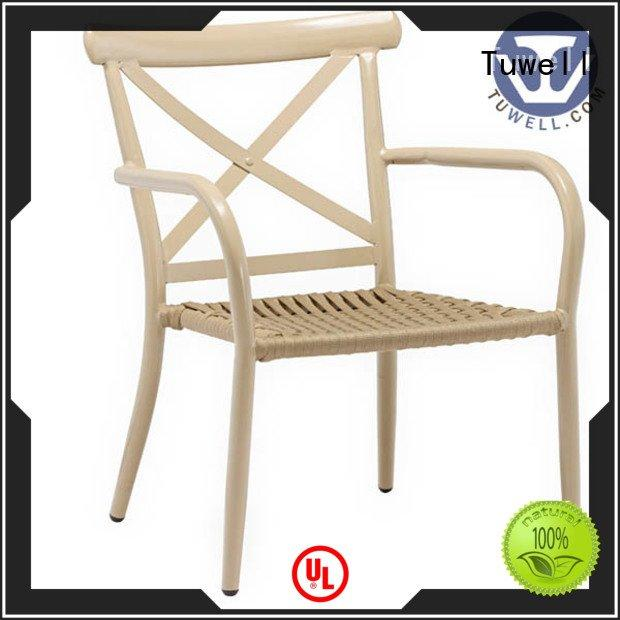 Tuwell windsor aluminum Rope Rope chair factory chair