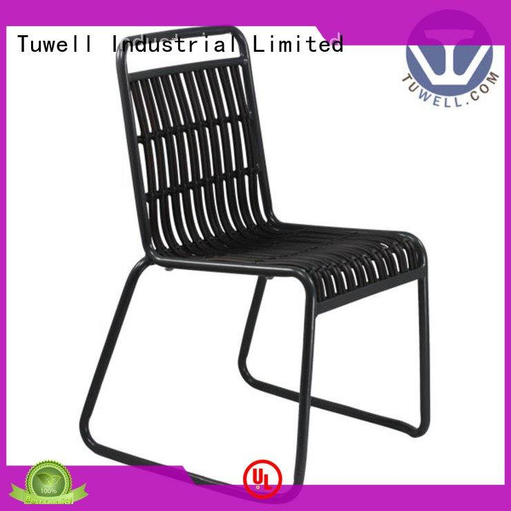 Tuwell Mounting bar design black wire chair ODE