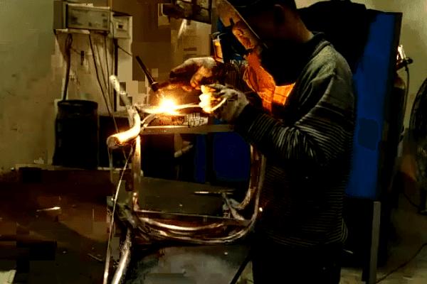 TW8080 Aluminum cross back chair production process