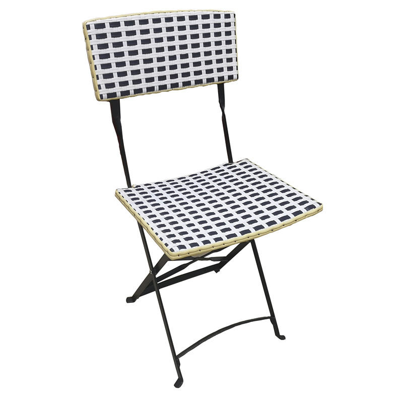 TW8779 metal Rattan chair beige color wicker dinning chair European leisure style for indoor and outdoor