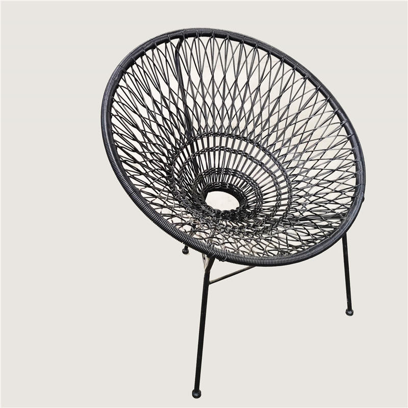 TW8780 metal Rattan chair beige color wicker dinning chair European leisure style for indoor and outdoor