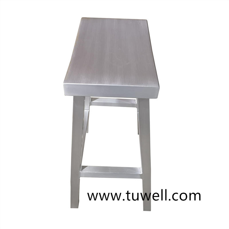 TW1035 Aluminum Anodized And Brushed Navy Low Stool