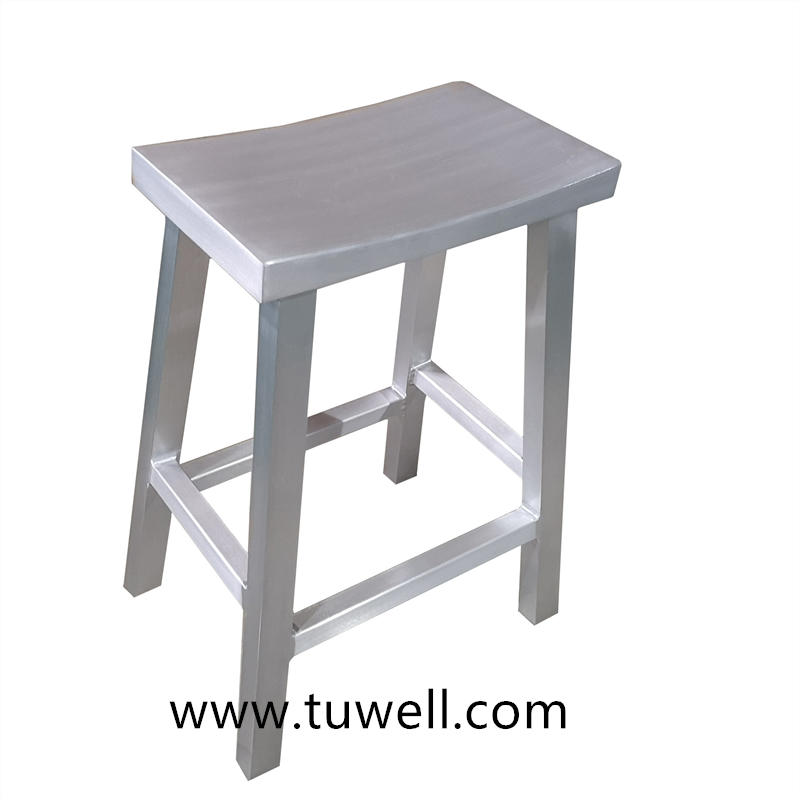 TW1035-M Aluminum Anodized And Brushed Navy Counter Stool