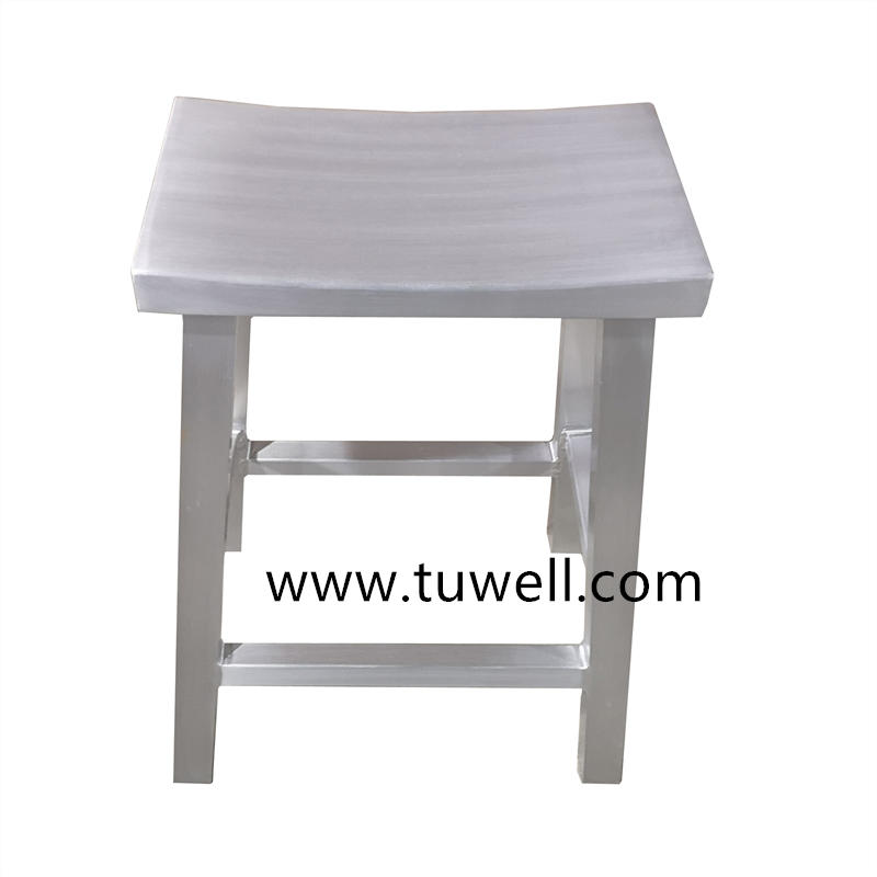 TW1035-L Aluminum Anodized And Brushed Navy Bar Stool