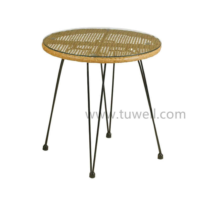 TW8784 Steel PE Rattan Table