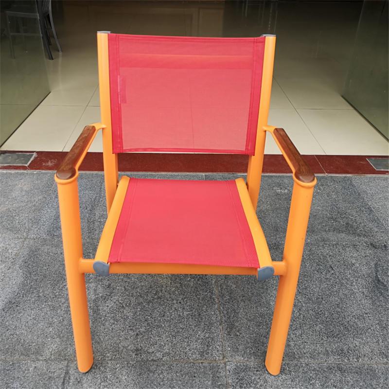 TW8787 Metal PE Rattan Garden chair texlislene chair