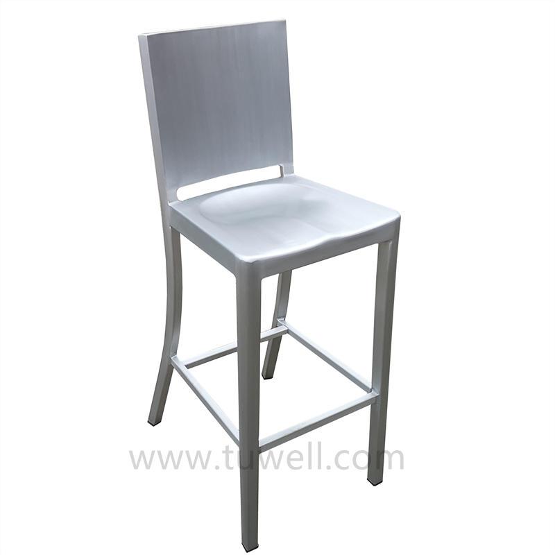 TW1036-L Aluminum Navy Barstool